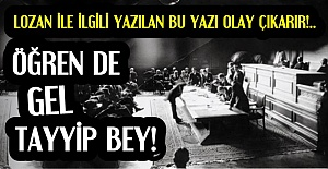 #039;BİR DE KONUŞUYORSUN TAYYİP...