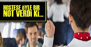 HOSTESE ÖYLE BİR NOT VERDİ Ki...