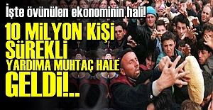 HER SEKİZ KİŞİDEN BİRİ MUHTAÇ HALE GELDİ!
