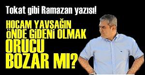 YILMAZ ÖZDİL#039;DEN TOKAT GİBİ...