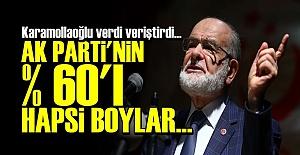 'AK PARTİ'NİN YÜZDE 60'I HAPSİ BOYLAR...'