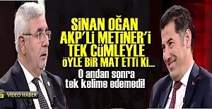 AKP'Lİ METİNER'İ TEK CÜMLE İLE ÖYLE BİR MAT ETTİ Kİ...