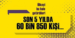 ŞOK İSTATİSTİK! 5 YILDA 60 BİN 850 KİŞİ...