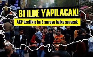 AKP 81 İLDE BU 5ORUYU HALKA SORACAK!