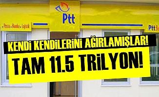 PTT KENDİ KENDİNİ AĞIRLAMIŞ!