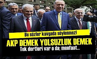 'YOLSUZLUK VE İSRAF AKP DEMEK...'