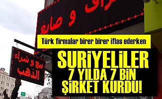 Suriyeliler 7 Yılda 7 Bin Şirket Kurdu!