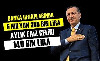 'Erdoğan'ın Aylık Faiz Geliri 140 Bin Lira'