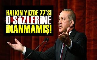 Halkın Yüzde 77'si Erdoğan'ın O Sözlerine İnanmamış!