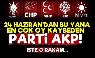 En Çok Oy Kaybeden Parti AKP!