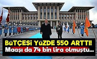 Sarayın Bütçesi Yüzde 550 Arttı!