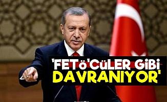'Erdoğan FETÖ'cüler Gibi Davranıyor'