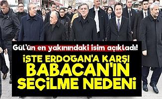 'Erdoğan'a Karşı Babacan Seçildi Çünkü...'