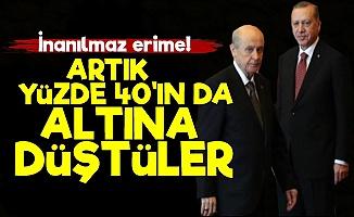 AKP-MHP Artık Yüzde 40'ı Bile Bulmuyor!