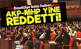 AKP-MHP Emeklileri Yine Yok Saydı!