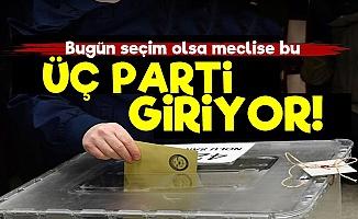 Bugün Seçim Olsa Barajı Üç Parti Geçiyor!
