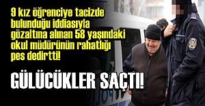 ADLİYE'YE GÜLEREK GİRDİ...