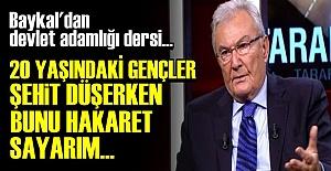 BAYKAL'DAN DEVLET ADAMLIĞI DERSİ...