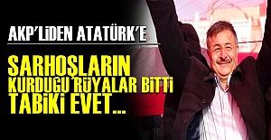 YİNE BİR AKP'Lİ.. ATA'YA ÖFKE KUSTU!..