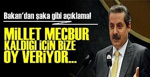 'MİLLET MECBUR KALDIĞI İÇİN BİZE OY VERİYOR'