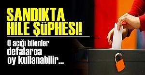 SANDIKTA HİLE ŞÜPHESİ!..