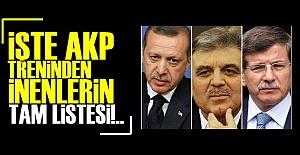 İŞTE AKP TRENİNDEN İNENLER!..