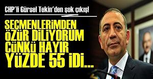 'ÖZÜRDİLİYORUM ÇÜNKÜ HAYIR YÜZDE 55'Tİ...'
