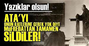 ATATÜRK İLKELERİNE GEREK YOKMUŞ!..