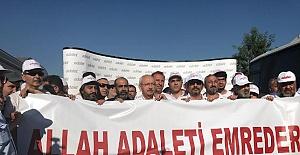 ELİAÇIK DA YÜRÜYÜŞTE! 'ALLAH ADALETİ EMREDER...'