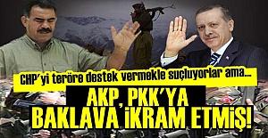 AKP, PKK'LI TERÖRİSTLERE BAKLAVA İKRAM ETMİŞ!
