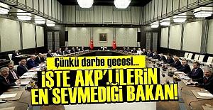 AKP'LİLER O BAKANI HİÇ SEVMİYOR!..