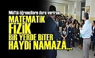 MÜFTÜ EFENDİ: HAYDİ NAMAZA...