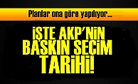 İŞTE AKP'NİN BASKIN SEÇİM TARİHİ!