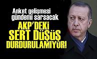 'AKP'DEKİ DÜŞÜŞ DURDURULAMIYOR!'
