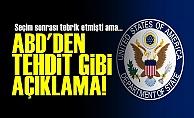 ABD'den Tehdit Gibi Türkiye Açıklaması!