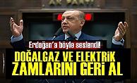'Yaptığın Zamları Geri Al Erdoğan'
