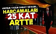 Erdoğan'ın Harcamaları 25 Kat Arttı!