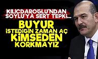 Kılıçdaroğlu'ndan Soylu'ya Sert Tepki!