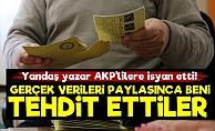 'Gerçeği Söyledim Diye AKP'liler Tehdit Ediyor'
