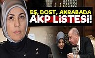 İşte AKP'nin Eş, Dost, Akraba Listesi!