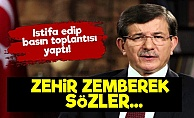 Davutoğlu'ndan Zehir Zemberek Sözler!