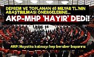 AKP-MHP: Depremler Ve Toplanan Paralar Araştırılmasın