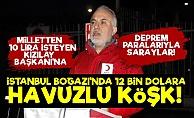 Milletten 10 Lira İsteyen Kızılay Başkanı#39;na Havuzlu Köşk!