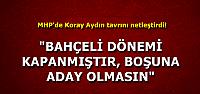 """""""BAHÇELİ DEVRİ KAPANDI"""""""