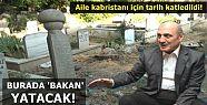 BAKAN'A MEZAR İÇİN TARİH KATLEDİLDİ