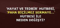 BAŞBAKAN'A ŞOK HUTBE SORUSU!