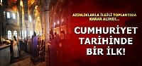 CUMHURİYET TARİHİNDE BİR İLK!