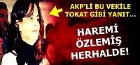 'HAREMİ ÖZLEMİŞ OLMALI'