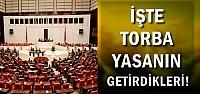 İŞTE TORBA YASANIN GETİRDİKLERİ...