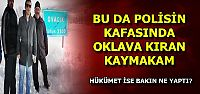 POLİSİN KAFASINDA OKLAVA KIRDI!